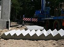 Betontrappen/ bordessen bouwen